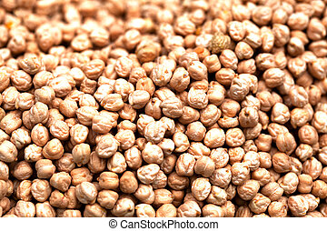 Pile of chickpeas sold at a market