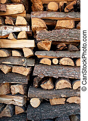 Pile of chopped fire woods