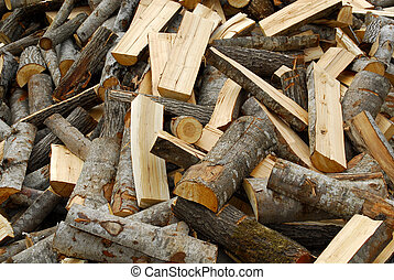 Pile of chopped woods - Chopped woods lying on a sawmill