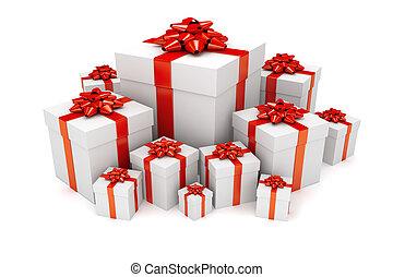 Pile of Christmas or birthday presents