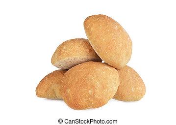 pile of ciabatta bread rolls