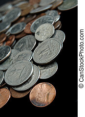 Pile of Coins and Change