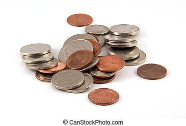 Pile of Coins - Pile of Miscellaneous coins