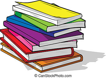 Pile of Colorful Books - A vector image of colorful books in...