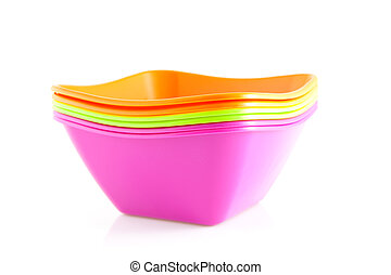 Pile of colorful bowls