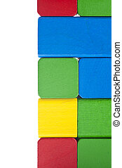 Pile of colorful building block