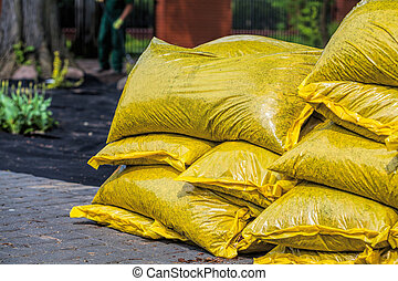 Pile of compost to fertilize