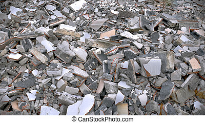 Pile of Construction Debris