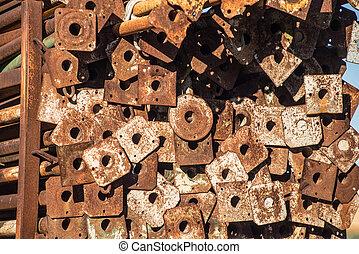 Pile of construction struts