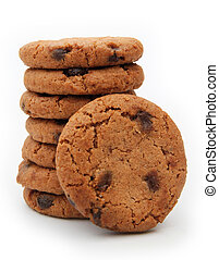 pile of cookies on a white background