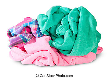 Pile Of Crumpled Clothes