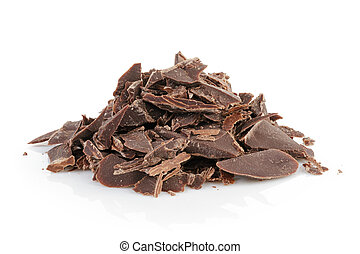 pile of crushed chocolate
