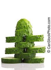 pile of cucumber slices
