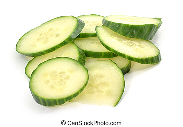 Pile of cucumber slices