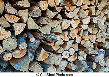 Pile of cut firewood