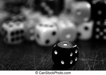 Pile of Dice for Gaming Gambling and Playing Games of Chance