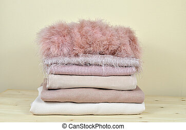 Pile of Different Pink Garments