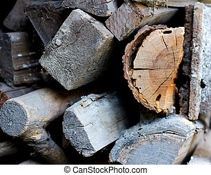 Pile of different woods