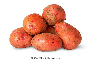 Pile of dirty potatoes