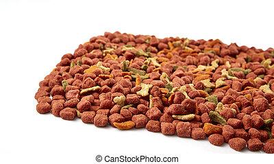 Pile of dog food