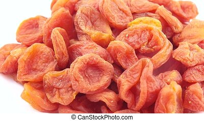 Pile of dried apricots - A pile of dried blue raisins from...