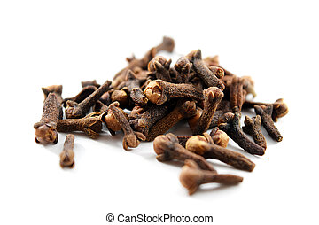 Pile of dried cloves (Syzygium aromaticum)