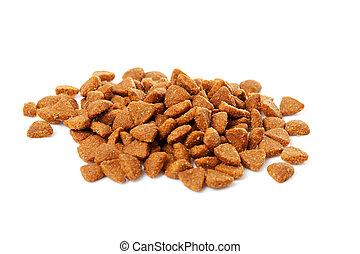 pile of dry cat food