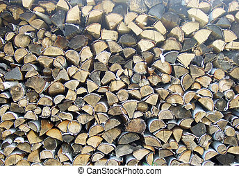 pile of dry firewoods