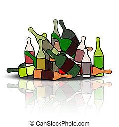 Pile of empty bottles