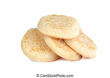 pile of english crumpets