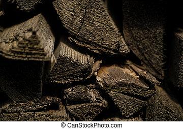 Pile of firewood logs