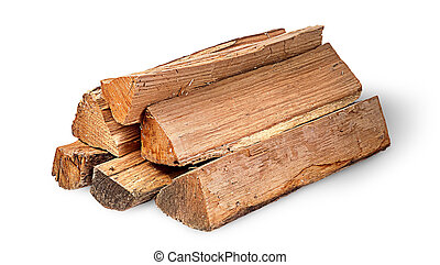 Pile of firewood rotated