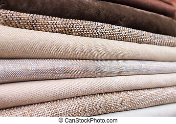 Pile of folded textile