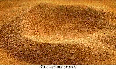 Pile Of Food Powder - Powdered food powder turning closeup