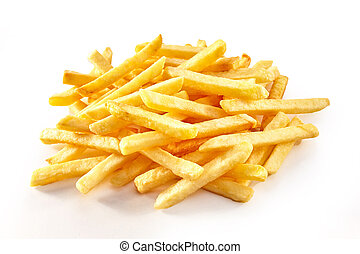 Pile of french fries in close-up
