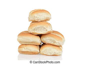 pile of fresh bread rolls
