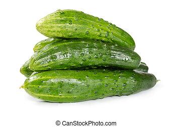 Pile of fresh cucumbers
