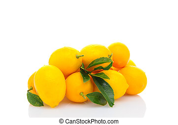 Pile of Fresh Lemons