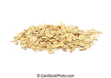 pile of fresh oat flakes