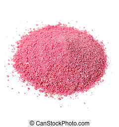 Pile of Fruit Juice Powder Concentrate Isolated on White Background