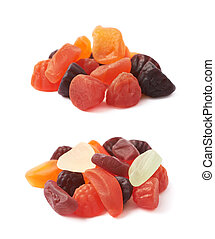 Pile of fruit shaped candies