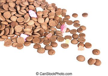 Pile of ginger nuts, Dutch sweets at 5 december Sinterklaas...