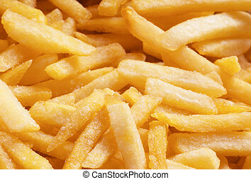 pile of golden fast food french fries
