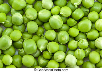Pile of green peas