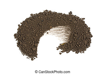 pile of ground isolated on white background