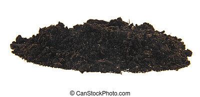 pile of ground isolated on white background