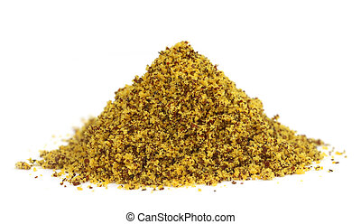 Pile of ground mustard