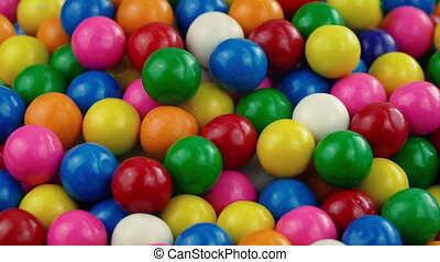 Pile Of Gumballs Closeup - Closeup shot of bubblegum balls...