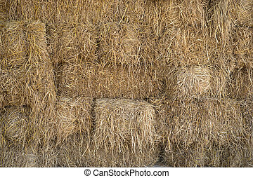 Pile of Hay or straw.