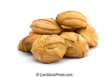 Pile of homemade cookies